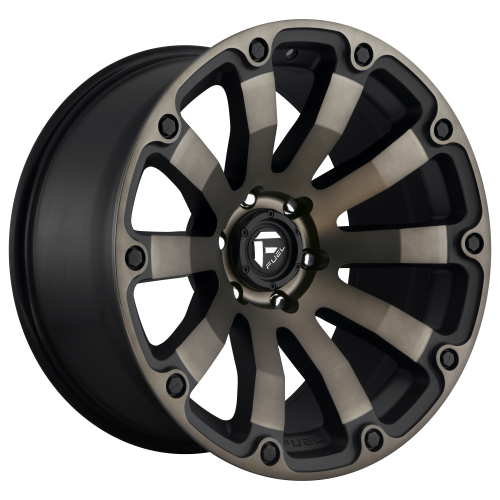 FUEL DIESEL 20x9 6x139.70 MATTE BLACK DOUBLE DARK TINT (20 mm)