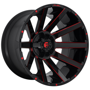 FUEL CONTRA 22x10 5x114.30/5x127.00 GLOSS BLACK RED TINTED CLEAR (-18 mm)  D64322002647