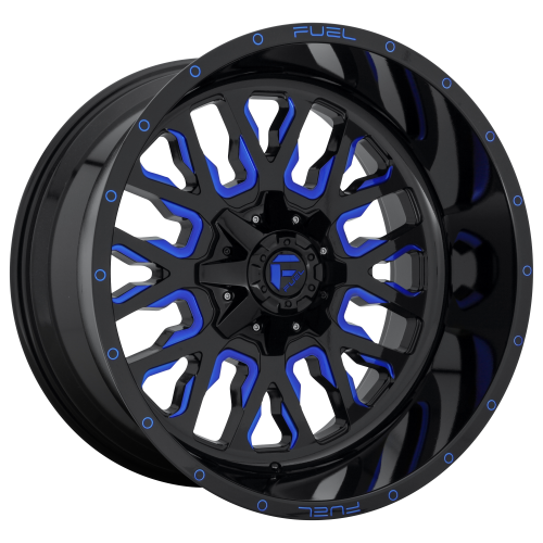 FUEL STROKE 22x12 8x180.00 GLOSS BLACK BLUE TINTED CLEAR (-44 mm)  D64522201847