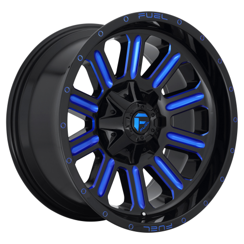 FUEL HARDLINE 22x12 6x135.00/6x139.70 GLOSS BLACK BLUE TINTED CLEAR (-45 mm)  D64622209846