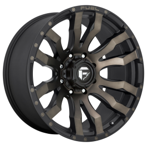 FUEL BLITZ 20x12 5x139.70 MATTE BLACK DOUBLE DARK TINT (-44 mm)  D6742020B447