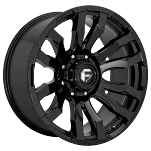 FUEL BLITZ 20x9 8x165.10 GLOSS BLACK (20 mm)  D67520908257