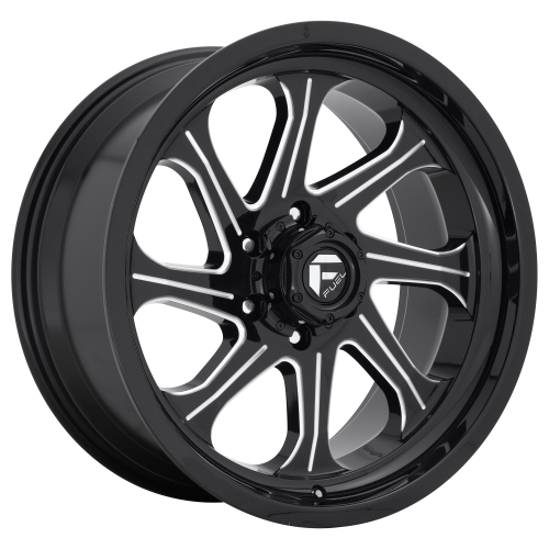 FUEL SEEKER 20x10 8x165.10 GLOSS BLACK MILLED (-18 mm)  D67620008247