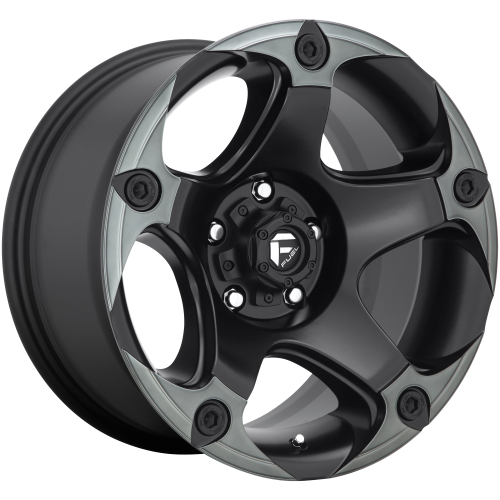 FUEL MENACE 17x9 6x139.70 MATTE BLACK DOUBLE DARK TINT (-12 mm)