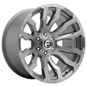 FUEL BLITZ PLATINUM 20x9 6x139.70 BRUSHED GUN METAL TINTED CLEAR (1 mm)  D69320908450