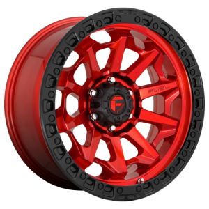 FUEL COVERT 18x9 5x139.70 CANDY RED BLACK BEAD RING (1 mm)  D6951890B550