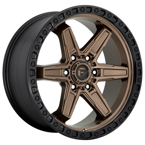 FUEL KICKER 17x9 6x114.30 MATTE BRONZE BLACK BEAD RING (12 mm)  D69917908755