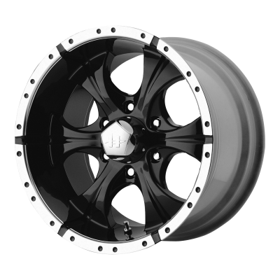 HELO MAXX 17x9 8x165.10 GLOSS BLACK MACHINED (-12 mm)