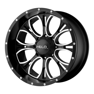 HELO HE879 17x9 8x180.00 GLOSS BLACK MACHINED & MILLED (18 mm)