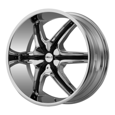 HELO HE891 20x8.5 6x135.00/6x139.70 CHROME W/ GLOSS BLACK AND CHROME ACCENTS (35 mm)