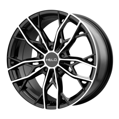 HELO HE907 18x8 5x120.00 GLOSS BLACK MACHINED (40 mm)