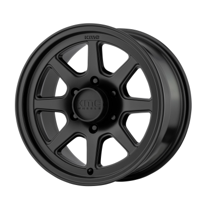 KMC TURBINE 17x9 6x139.70 SATIN BLACK (18 mm)