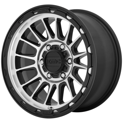 KMC IMPACT 18x9 6x139.70 SATIN BLACK MACHINED (18 mm)