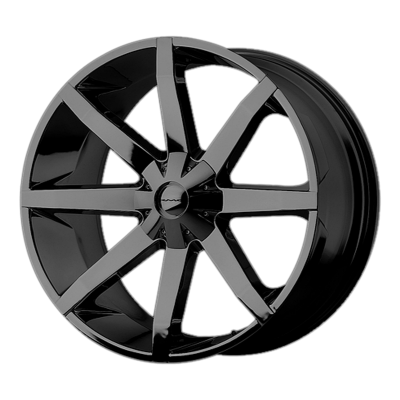 KMC SLIDE 20x8.5 6x135.00/6x139.70 GLOSS BLACK (10 mm)
