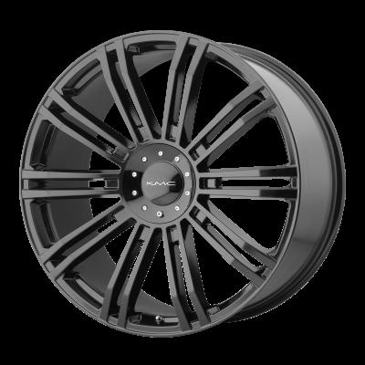 KMC D2 20x8.5 6x135.00/6x139.70 GLOSS BLACK (35 mm)