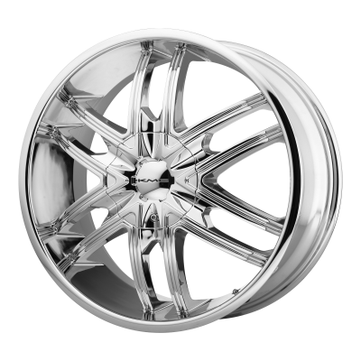 KMC SPLINTER 24x9.5 5x115.00/5x120.00 CHROME (15 mm)