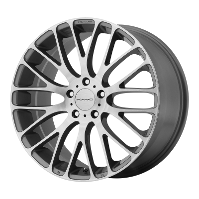 KMC MAZE 18x8 5x114.30 PEARL GRAY W BRUSHED FACE (40 mm)  KM69388012540