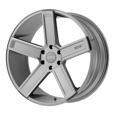KMC DUECE 20x8.5 6x139.70 SATIN GRAY MILLED (35 mm)