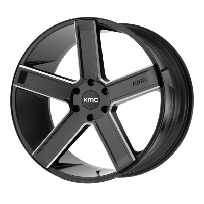 KMC DUECE 20x8.5 6x139.70 SATIN BLACK MILLED (35 mm)