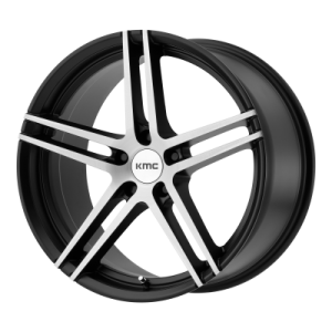 KMC MONOPHONIC 19x9.5 5x120.00 SATIN BLACK BRUSHED (45 mm)