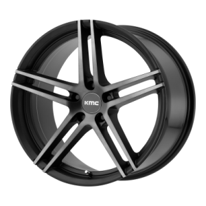 KMC MONOPHONIC 19x9.5 5x120.00 SATIN BLACK W/ TITANIUM BLACK FACE (45 mm)