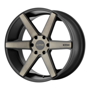KMC DISTRICT TRUCK 20x8.5 6x139.70 MATTE BLACK W/ DARK TINT (38 mm)