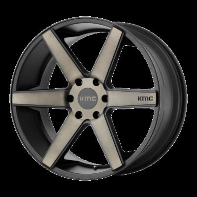 KMC DISTRICT TRUCK 20x8.5 6x139.70 MATTE BLACK W/ DARK TINT (38 mm)