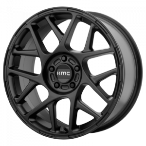 KMC BULLY 18x8 5x120.00 SATIN BLACK (38 mm)