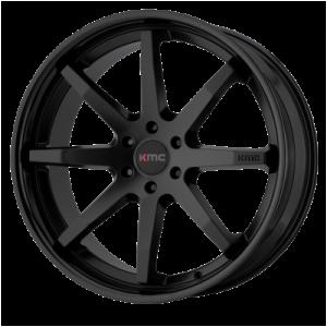 KMC REVERB 20x9 6x139.70 SATIN BLACK W/ GLOSS BLACK LIP (30 mm)