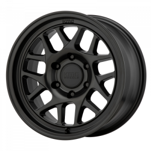 KMC BULLY OL 17x7 5x139.70 SATIN BLACK (10 mm)  KM71777055710