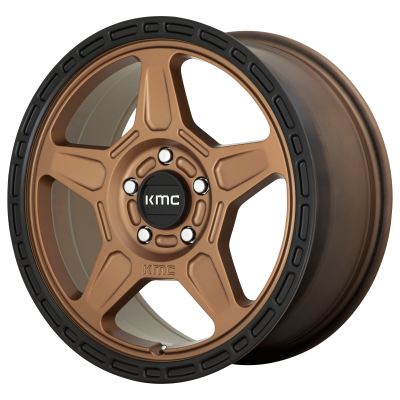 KMC ALPINE 18x8 5x120.00 MATTE BRONZE W/ BLACK LIP (38 mm)