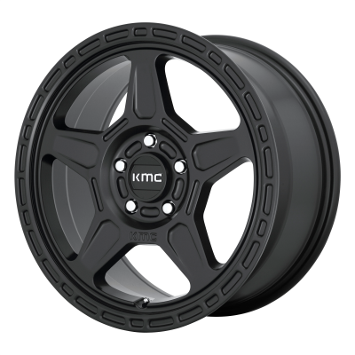 KMC ALPINE 18x8 5x120.00 SATIN BLACK (38 mm)