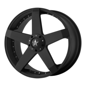 KMC ROCKSTAR CAR 17x7.5 5x115.00/5x120.00 MATTE BLACK (21 mm)