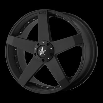 KMC ROCKSTAR CAR 17x7.5 5x115.00/5x120.00 MATTE BLACK (21 mm)
