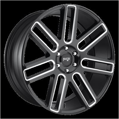 NICHE ELAN 20x9 6x135.00 MATTE BLACK MILLED (30 mm)  M096209089+30