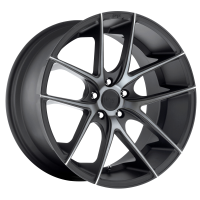NICHE TARGA 22x9 5x120.00 MATTE BLACK DOUBLE DARK TINT (25 mm)  M130229021+25