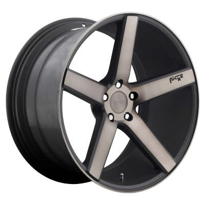 NICHE MILAN 22x10 5x130.00 MATTE BLACK MACHINED (50 mm)