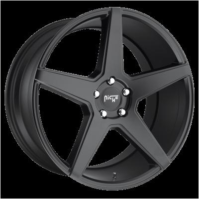 NICHE CARINI 20x10 5x114.30 MATTE BLACK (40 mm)