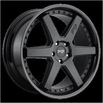 NICHE ALTAIR 24x10 6x139.70 GLOSS BLACK MATTE BLACK (30 mm)