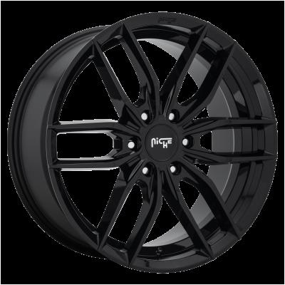 NICHE VOSSO 24x9.5 6x139.70 GLOSS BLACK (30 mm)