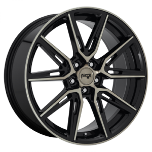 NICHE GEMELLO 20x9 5x120.00 GLOSS MACHINED DOUBLE DARK TINT (35 mm)