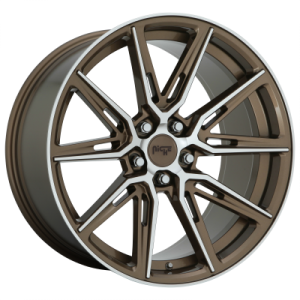 NICHE GEMELLO 20x9 5x120.00 GLOSS ANTHRACITE MACHINED (35 mm)