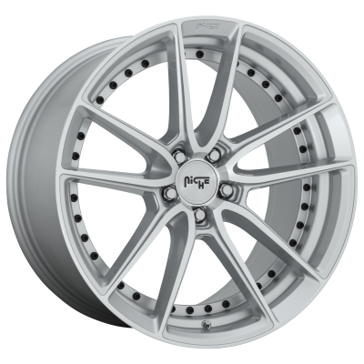 NICHE DFS 22x9 5x120.00 GLOSS SILVER MACHINED (35 mm)
