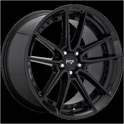 NICHE DFS 19x8.5 5x114.30 GLOSS BLACK (42 mm)  M223198565+42E