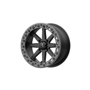 MSA LOK2 18x7 4x137.00 SATIN BLACK W/ MATTE GRAY RING (0 mm)  M31-08737