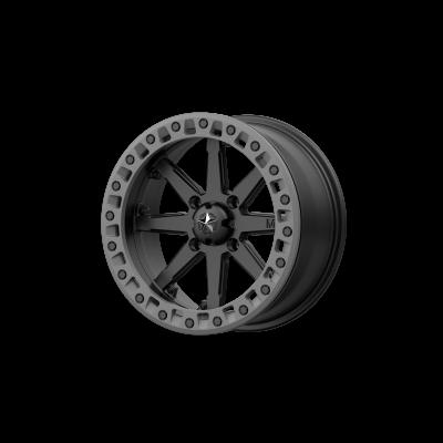 MSA LOK2 18x7 4x156.00 SATIN BLACK W/ MATTE GRAY RING (0 mm)