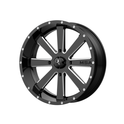 MSA FLASH 24x7 4x156.00 GLOSS BLACK MILLED (0 mm)