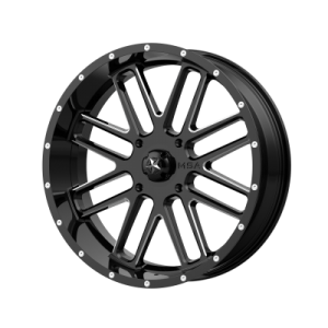 MSA BANDIT 22x7 4x137.00 GLOSS BLACK MILLED (0 mm)  M35-022737M