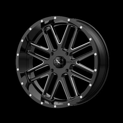 MSA BANDIT 22x7 4x156.00 GLOSS BLACK MILLED (0 mm)
