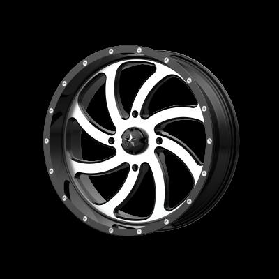 MSA SWITCH 24x7 4x156.00 MACHINED GLOSS BLACK (0 mm)